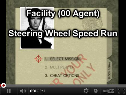 GoldenEye 007 speed run but with a steering wheel