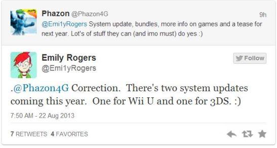 Wii U, 3DS Update
