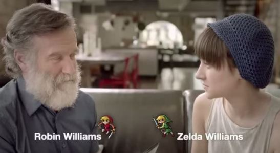 Zelda and Robin Williams play The Legend of Zelda